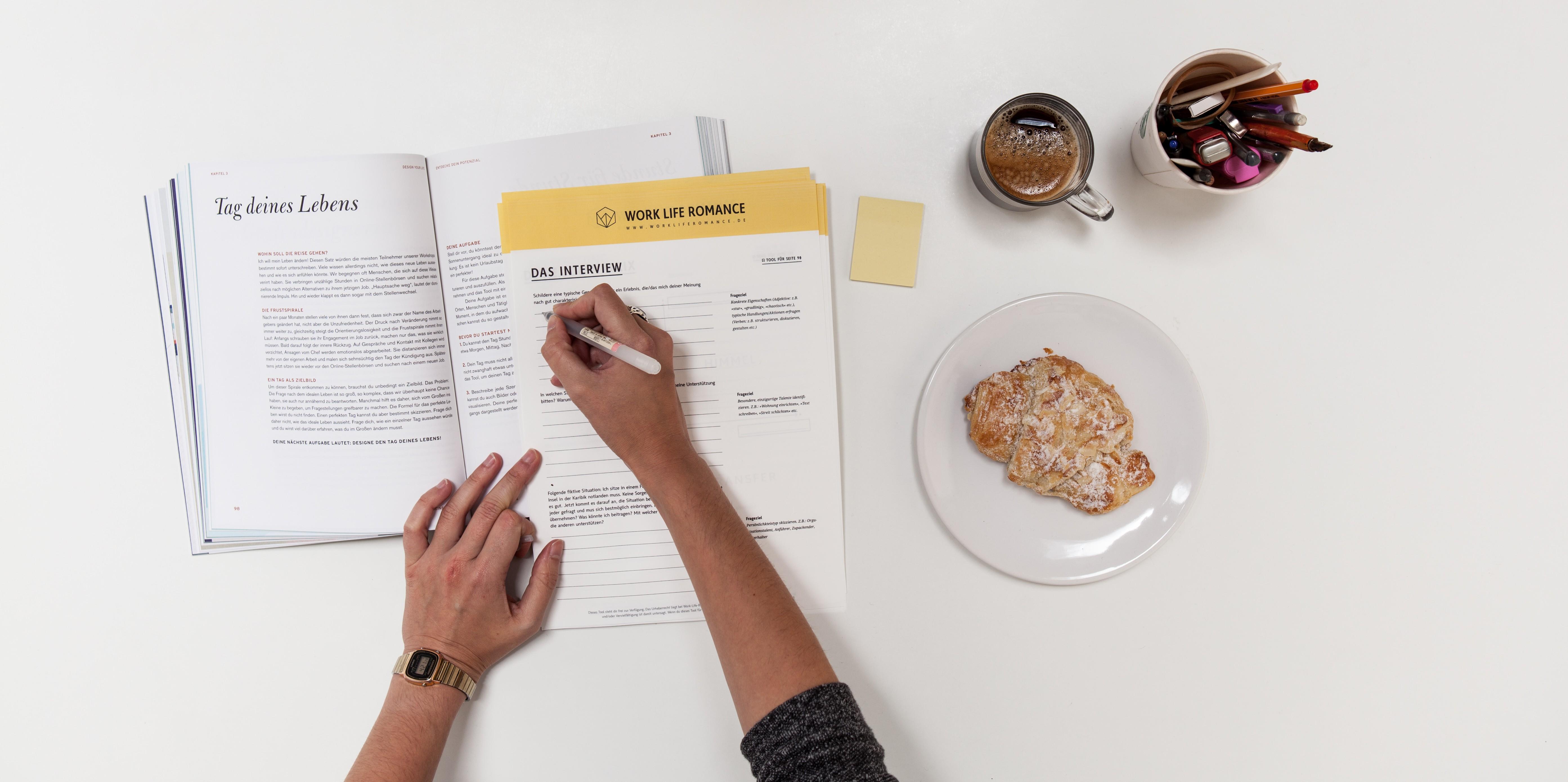 Design your life das neue buch von work life romance for Buch design